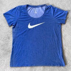 Nike Dri-Fit Blue Tee Size L